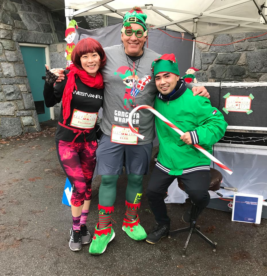 Big Elf Run in Stanley Park, Vancouver, BC, Canada