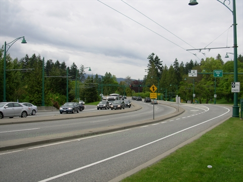 Stanley Park Causeway in Stanley Park, Vancouver, B.C., Canada