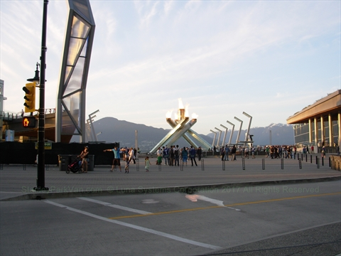 Jack Poole Plaza in Coal Harbour, Vancouver, BC, Canada