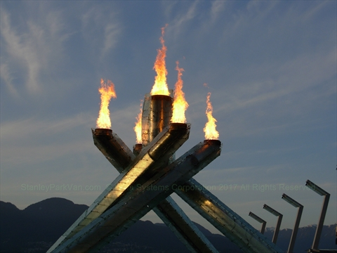 2010 Olympic Cauldron, Coal Harbour, Vancouver, BC, Canada