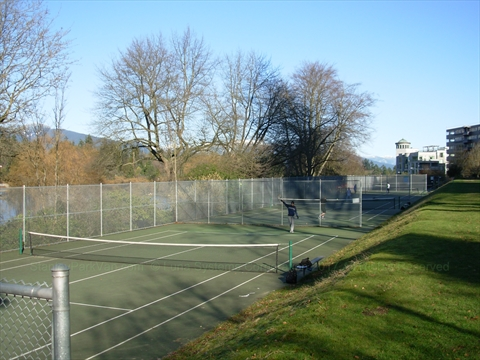 Lost Lagoon Tennis Courts in Stanley Park, Vancouver, BC, Canada