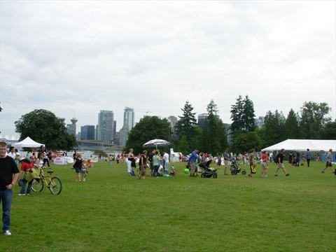 Brockton Playing Fields in Stanley Park, Vancouver, B.C., Canada