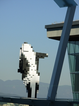 Digital Orca in Jack Poole Plaza at Coal Harbour, Vancouver, BC, Canada