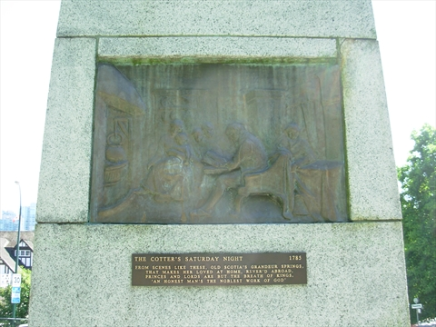 Robert Burns Statue plaque