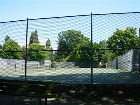 Tennis Courts in Stanley Park