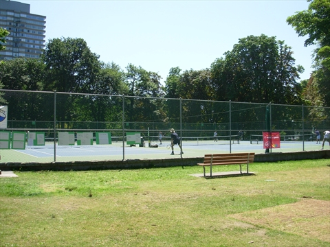 English Bay Tennis Courts in Stanley Park, Vancouver, BC, Canada