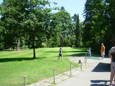 Golf course in Stanley Park, Vancouver, British Columbia Canada