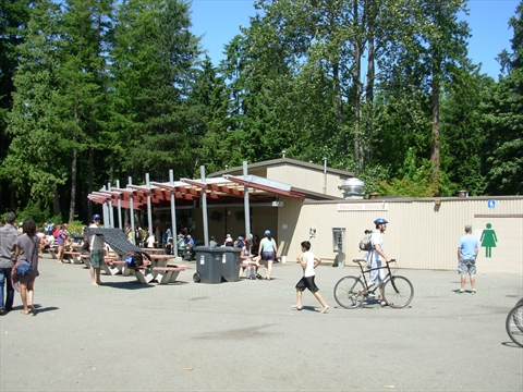 Concession Food Stands in Stanley Park, Vancouver, B.C., Canada