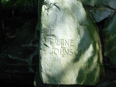 inscription on E Pauline Johnson memorial