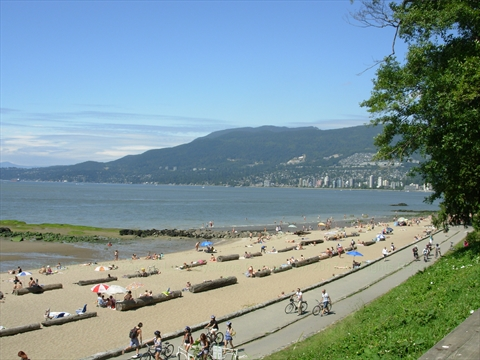Third Beach in Stanley Park, Vancouver, British Columbia Canada