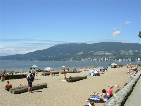 Third Beach in Stanley Park, Vancouver, B.C., Canada