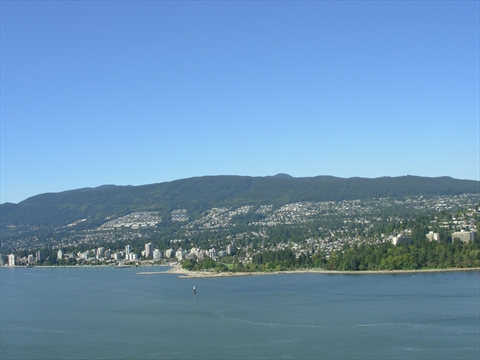 West Vancouver as viewed from Prospect Point Lookout in Stanley Park