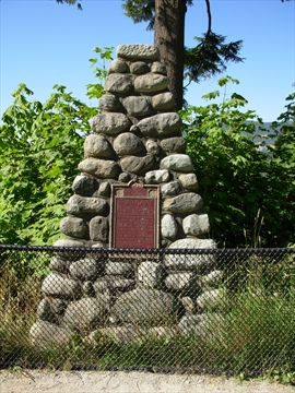 Cairn in Stanley Park, Vancouver, British Columbia Canada