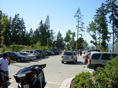 Prospect Point Parking Lot in Stanley Park, Vancouver, BC, Canada