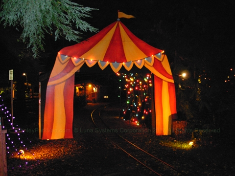 Halloween Ghost Miniature Train in Stanley Park, Vancouver, BC, Canada