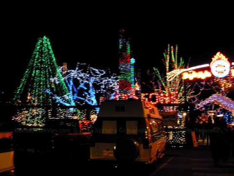 Bright Nights in Stanley Park, Vancouver, B.C., Canada