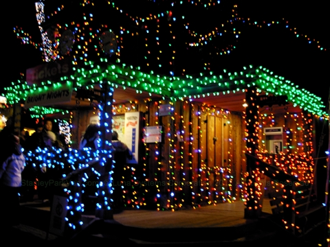 Bright Nights Christmas Miniature Train in Stanley Park, Vancouver, BC, Canada