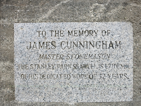 James Cunningham plaque