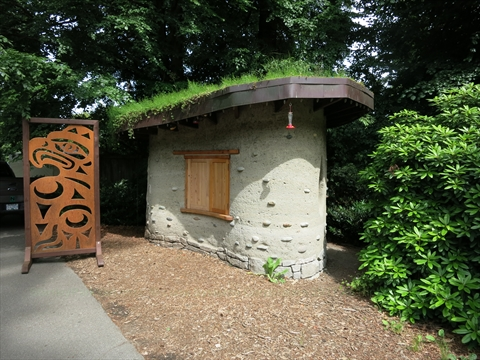 Cob House in Stanley Park, Vancouver, B.C., Canada