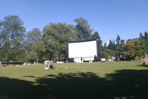 Weekly Movies at Ceperley Park in Stanley Park, Vancouver, B.C., Canada