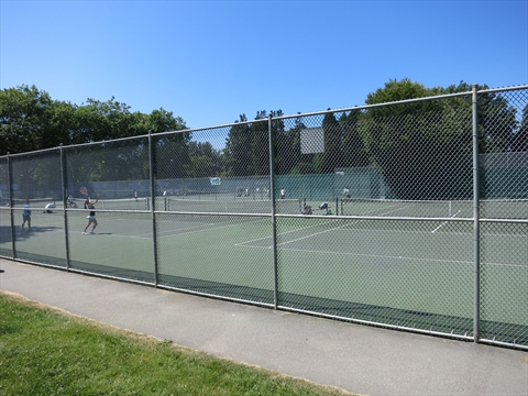 Tennis Courts in Stanley Park, Vancouver, B.C., Canada