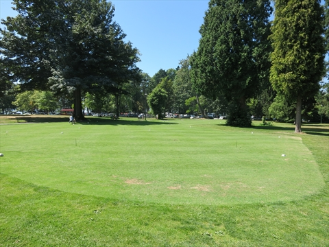 Putting green in Stanley Park