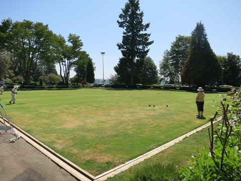 Lawn Bowling  in Stanley Park, Vancouver, B.C., Canada