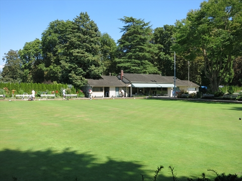 Stanley Park Lawn Bowling Club in Stanley Park, Vancouver, B.C., Canada
