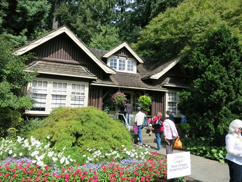 Rose Cottage in Stanley Park, Vancouver, B.C., Canada