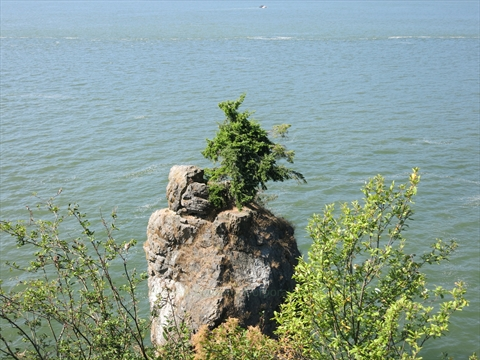 Siwash Rock Lookout in Stanley Park, Vancouver, B.C., Canada