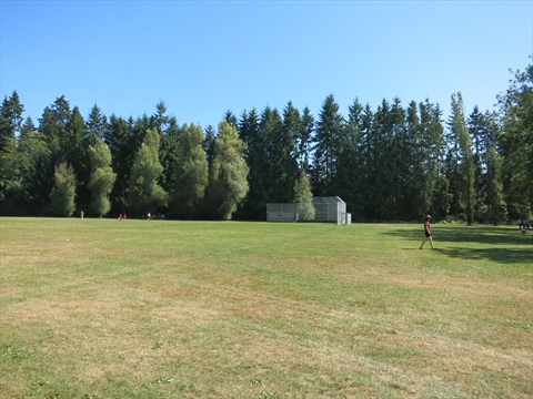 Baseball diamond at Prospect Point Picnic area in Stanley Park