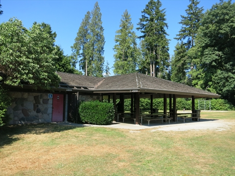 Prospect Point Picnic Area in Stanley Park, Vancouver, B.C., Canada