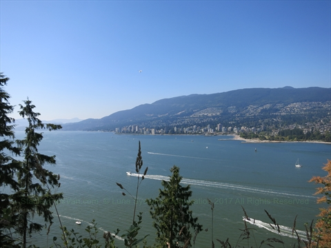 Prospect Point Lookout in Stanley Park, Vancouver, B.C., Canada