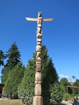Rose Cole Yelton Memorial Totem Pole in Stanley Park, Vancouver, B.C., Canada