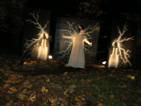 Halloween Ghost Train in Stanley Park, Vancouver, B.C., Canada