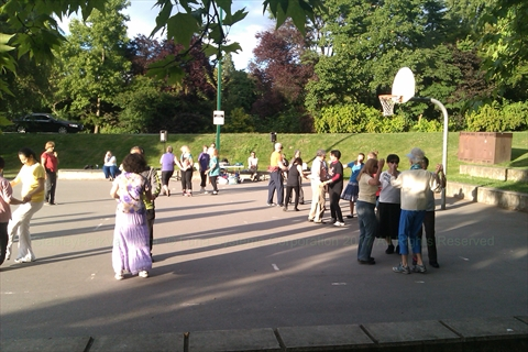Weekly Dancing at Ceperley Park in Stanley Park, Vancouver, B.C., Canada