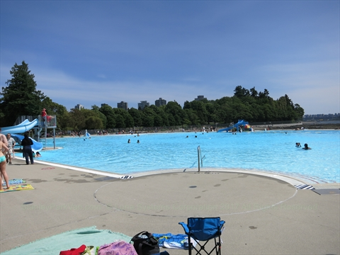Second Beach Outdoor Swimming Pool in Stanley Park, Vancouver, B.C., Canada