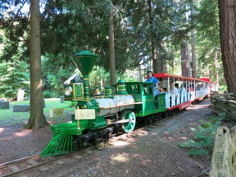 Summer Miniature Train Ride in Stanley Park, Vancouver, BC, Canada
