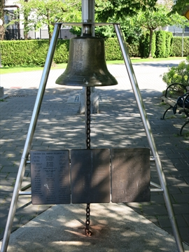 Coal Harbour Fellowship Bell at Coal Harbour, Vancouver, BC, Canada