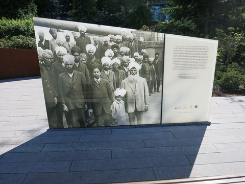 Komagata Maru Monument plaque in Coal Harbour