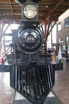 Engine 374 at Yaletown Roundhouse at False Creek, Vancouver, BC, Canada