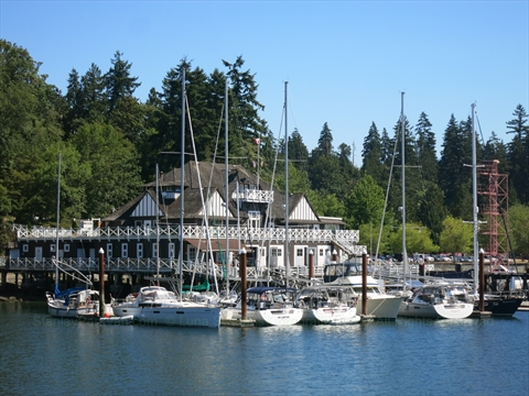 Rowing Club in Stanley Park, Vancouver, British Columbia Canada