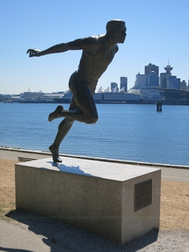 Harry Jerome Statue in Stanley Park, Vancouver, BC, Canada