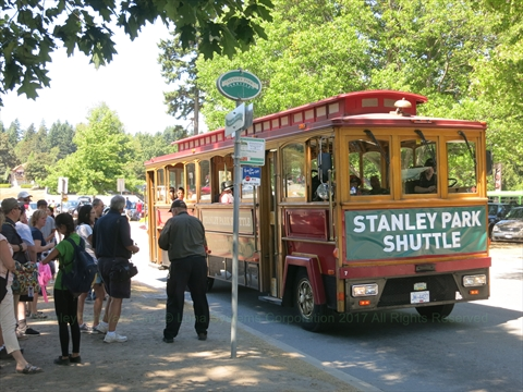 Stanley Park Shuttle in Stanley Park, Vancouver, B.C., Canada