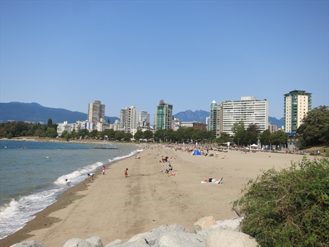 English Bay Beach In Vancouver Bc