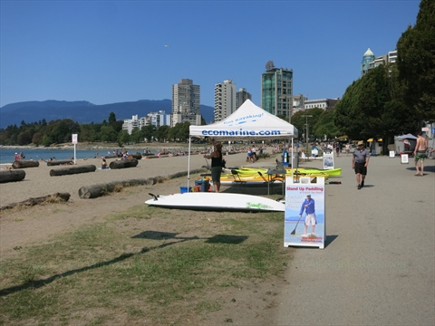 Kayak rentals at English Bay, Vancouver, B.C., Canada