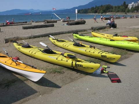 Kayak/Paddleboard Rentals at English Bay, Vancouver, B.C., Canada
