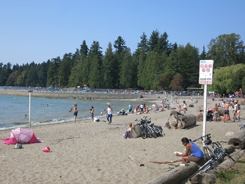 Second Beach in Stanley Park, Vancouver, BC, Canada
