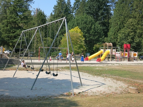 Playground in Stanley Park, Vancouver, British Columbia Canada