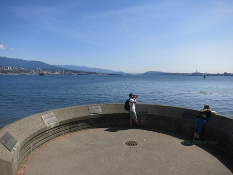 Lookout in Stanley Park, Vancouver, British Columbia Canada